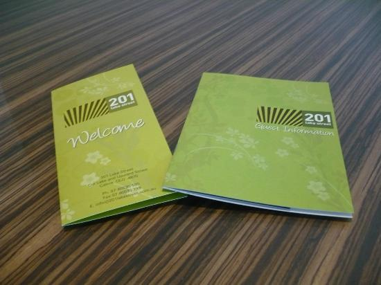 201 Lake Street: Welcome and information booklets
