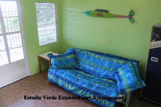 Estancia de Manzanares Guest Rooms: Estudio Verde setup for an extended stay