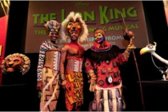 The Lion King at Bristol Hippodrome: Nala, Simba and Rafiki