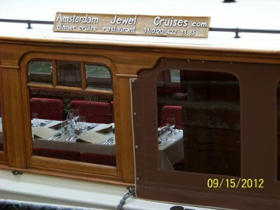 Amsterdam Jewel Cruises: Showing the inside of the boat