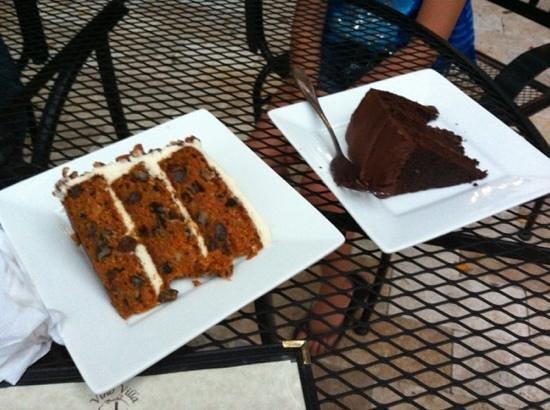 Vino villa: carrot & Choclate cake