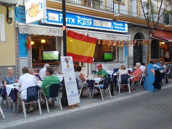 Restaurante pata rusa,coktail & bar: Restaurante Pata Rusa (pata de cangrejo)- comida tipica española!!! Los Boliches