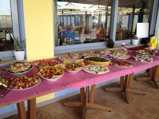 Bagno Vacanze: un ricco buffet