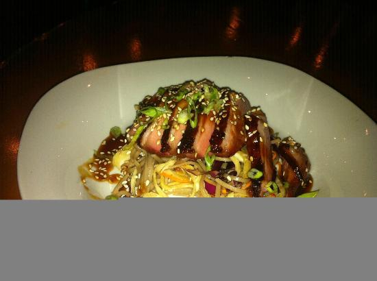Royal Palm Village Wine & Tapas: Hoisin Smoked Duck Breast w/ Chilled Soba Noodle Salad