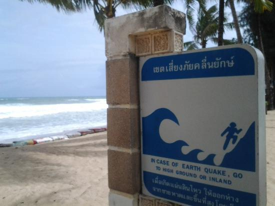 Kamala Beachfront Apartment: Warnings along beach