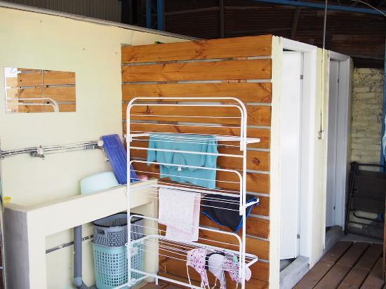 Bike Tainan Hostel : Roof top shower