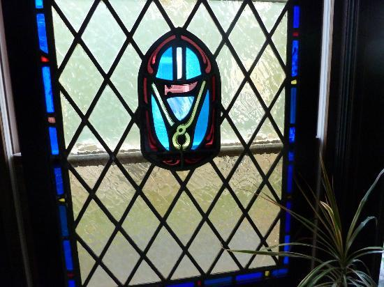 Parkside House: Stained glass in dining room