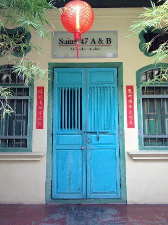 Coffee Atelier: Front door.