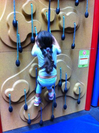 Clip 'n Climb Exeter: My daughter is only 5 years old, so much effort she had put into this!
