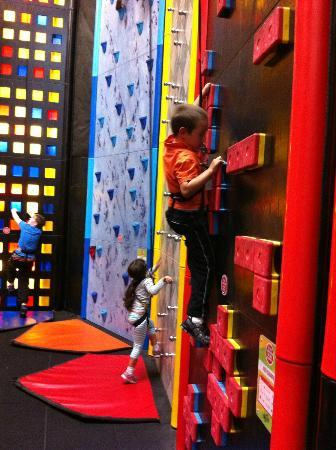 Clip 'n Climb Exeter: Would you believe my son didn't want to climb? Look at him now!