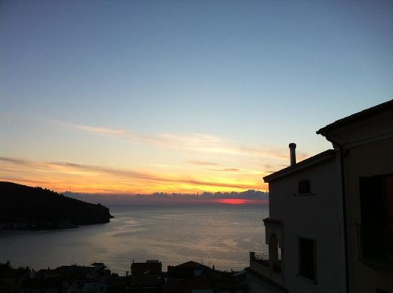 Hotel Santa Caterina : uno splendido tramonto dal terrazzino della 301