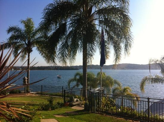 Fishing Point, Australia: View from the terrace at breakfast