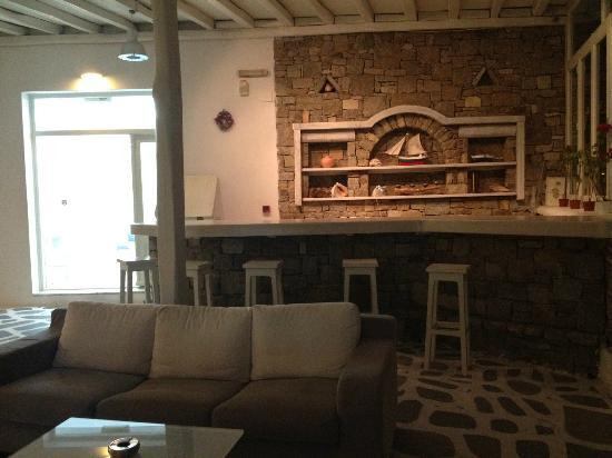 Argo Hotel Mykonos: Bar d'accueil