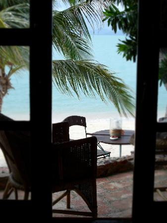 Secret Garden Beach Resort: View from bed.