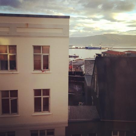 Reykjavik Downtown Hostel: my friends rented a private room and this was the view of the harbor'