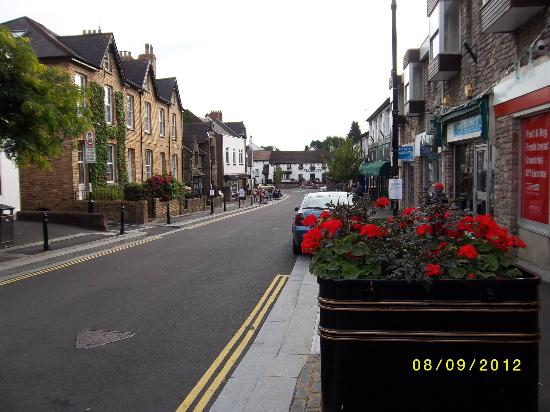 Maltsters : Llandaff High Street with Malsters and Green Awning of Kalla Bella