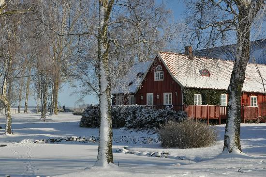 Vindbackagardens Bed and Breakfast: Vindbackagården at winter
