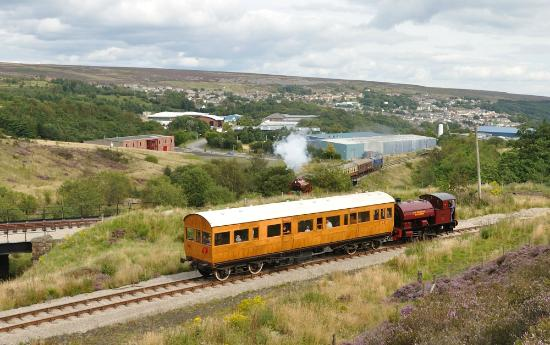 Pontypool and Blaenavon Railway: The view down the valley