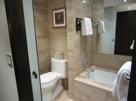 JW Marriott Hotel Lima: Large Tub and Shower in Bath-