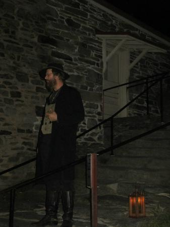 O' Be Joyfull Historical Tours & Entertainment: Mr Garland during the Historical Ghost Tour