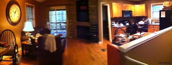 Asheville Cottages: living area/kitchen