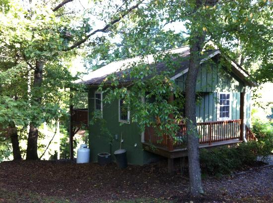 Asheville Cottages: the exterior: don't be fooled...it's luxurious inside!