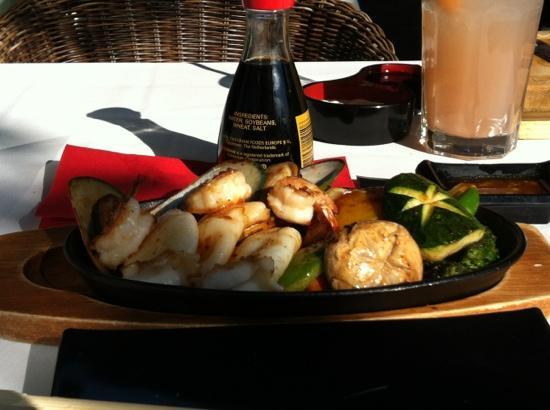 Kyoto Restaurant: seafood teppanyaki.