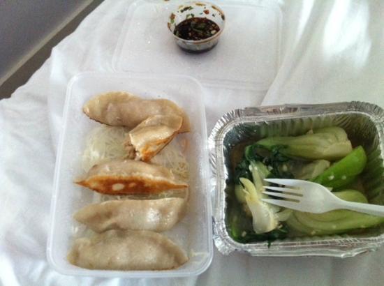 Hakka: Chicken Dumping and Pak Choi with garlic