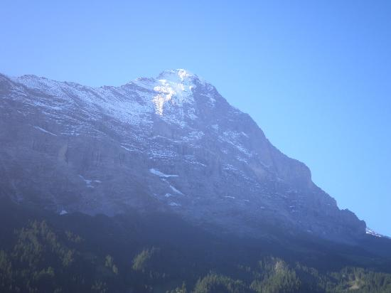 Hotel Belvedere Grindelwald: View of the Eiger from a bedroom