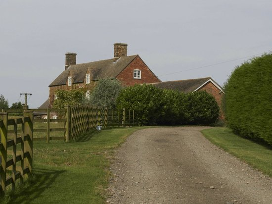 Launde Farm Cottages: View from the road entering
