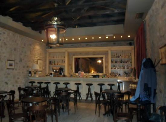 Semantron Traditional Village: inside the bar