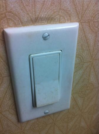 Holiday Inn Windsor Downtown: Dirty Light Switch