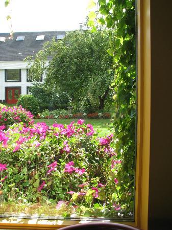 Enjoying a sample overlooking the stills! - Picture of Glenora Inn ...