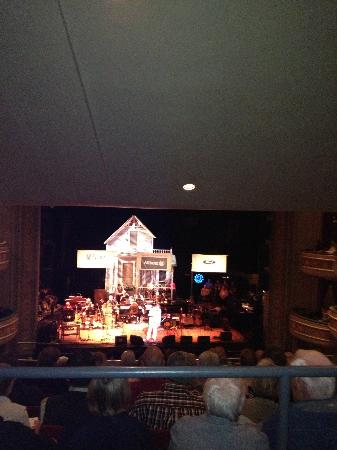 Fitzgerald Theater : Garrison on stage before the taping started.