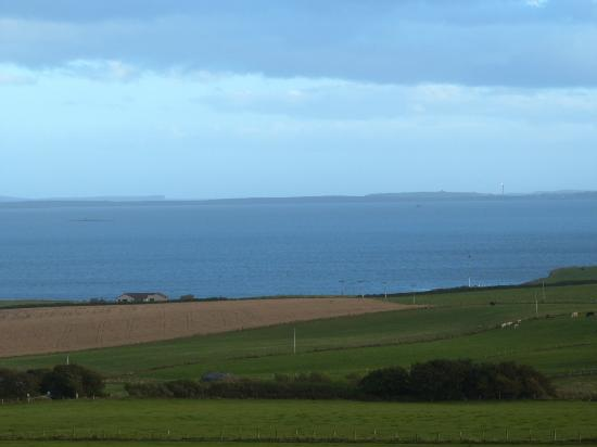 Scapa Flow Lodges: View to Scapa Flow from Cava lodge