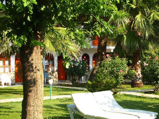 Olympos Yavuz Hotel: L'albergo visto dal giardino