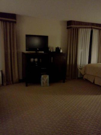 Comfort Suites Hummelstown-Hershey : Tv and mini fridge