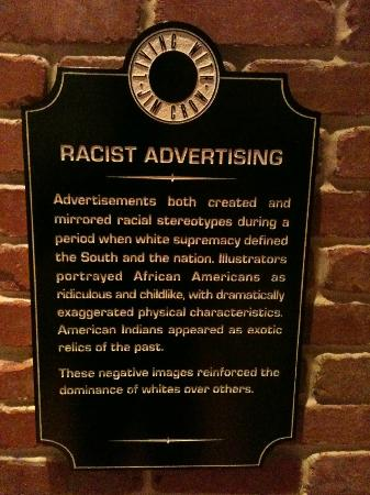 North Carolina Museum of History: Racist Advertising