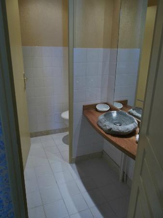 Hostellerie de la Mere Hamard: Separate toilet and wash hand basin from min bathroom