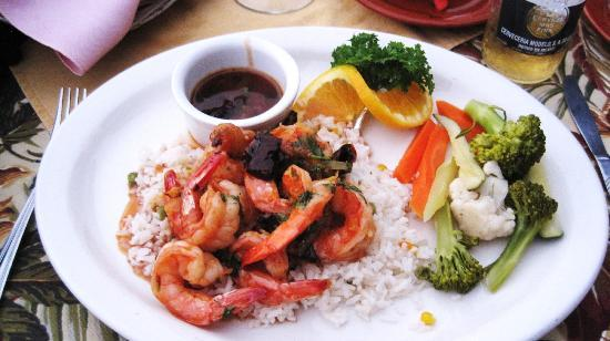 Poco Cielo shrimp. Careful. Muy caliente!