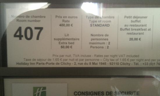 Holiday Inn Paris-Porte De Clichy : A ce prix, ce devrait être irréprochable.