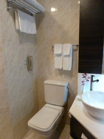 Village Hotel Bugis by Far East Hospitality: See the distance between the sink and toilet bowl