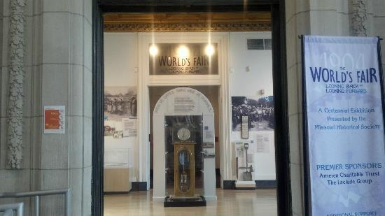 Missouri History Museum: Entrance to the 1904 World's Fair Gallery