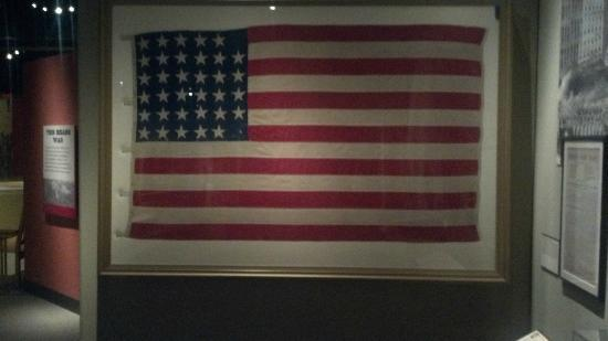 Missouri History Museum: Civil War era 34-star U.S. Flag