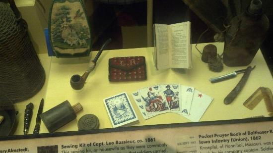 Missouri History Museum: Items from a Civil War Soldiers' Camp