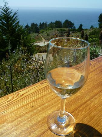 Treebones Resort: the bar - not a bad place to have a glass of wine