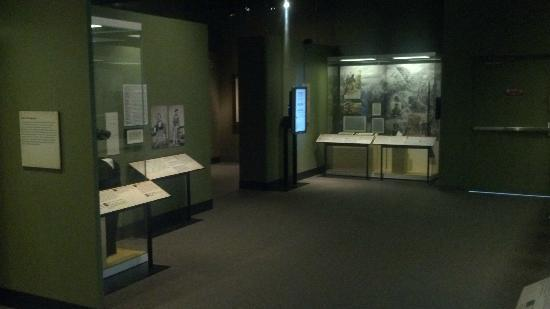 "Missouri History Museum: View of the special ""Civil War in Missouri"" exhibit"