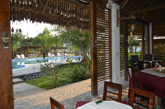 Tingo Maria National Park, Perù: Pool from dining area
