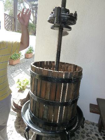 Santorini Wine Adventure: Old grape press