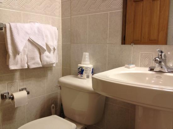 Moore's Motel: bathroom sink & toilet